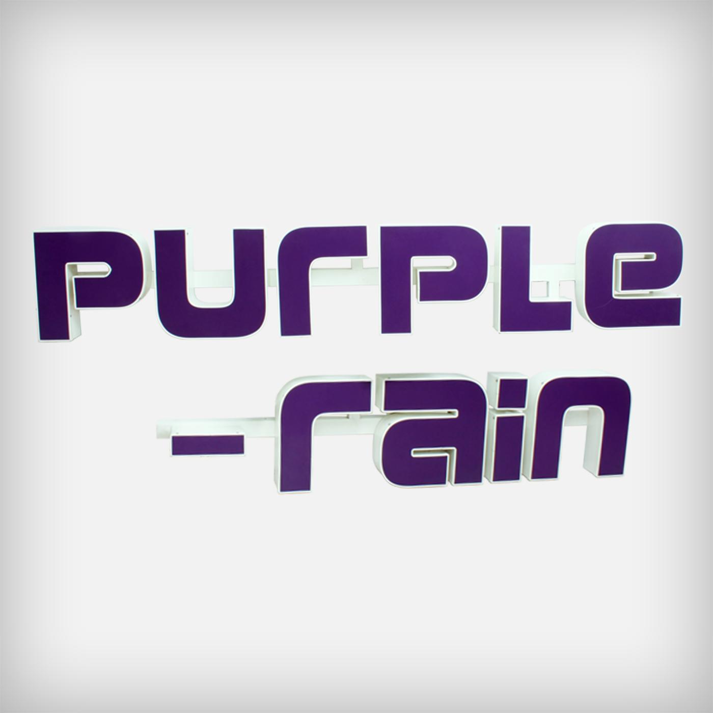 Unknown Huge Illuminated Letters Purple Rain Good