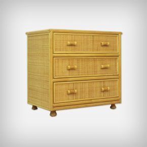 Rattan & Bamboo Chest Of Drawers