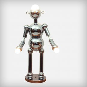 Chrome Robot Floor & Table Lamp