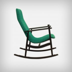 Black & Turquoise Rocking Chair
