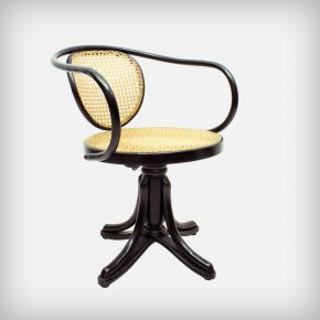 Bentwood & Handwoven Rattan Swivel Chair • Model 5501
