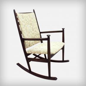 Dark Brown Stained Rocking Chair