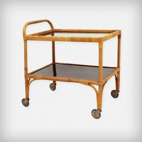 Rattan & Bamboo Serving Trolley