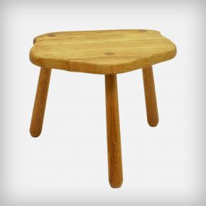 Solid Oak Wood Tripod Stool Or Side Table