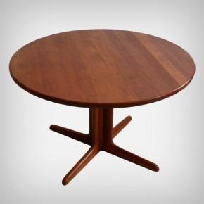Extendible Teak Pedestal Table • Model 308