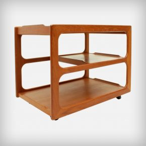 Extendible Teak Serving Trolley