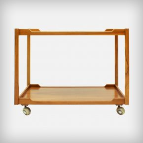 Walnut Serving Trolley