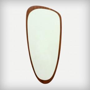 Asymmetric Walnut Mirror