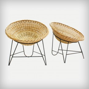 Set Of 2 Wicker Chairs