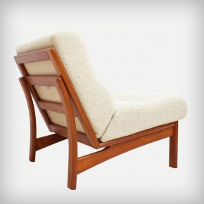 1 Of 3 Teak Easy Chairs • Model Vario